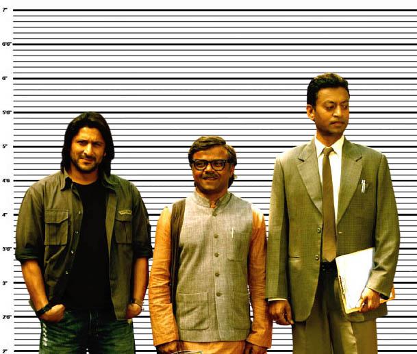Arshad Warsi, Rajpal Yadav and Irrfan Khan