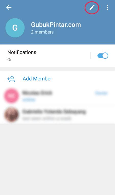 pengaturan grup telegram