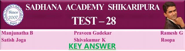 [PDF]SADHANA ACADEMY  SHIKARIPURA. MODEL TEST PAPER-28