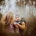 Mama i córka - jesienna sesja fotograficzna - Łomianki