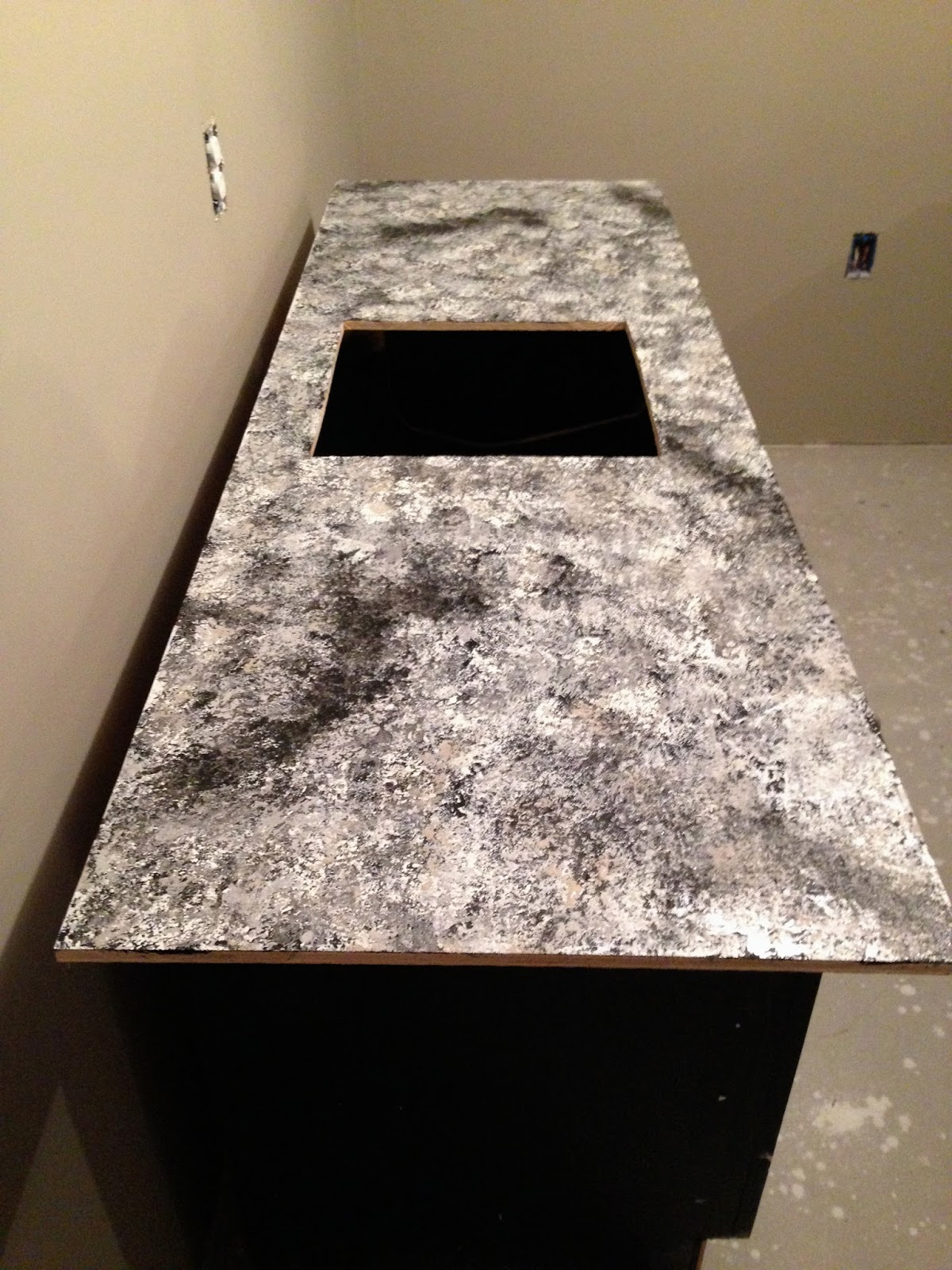 Black Faux Granite Countertops Diy Why Spend More Build Your Own Bar With Faux Granite
