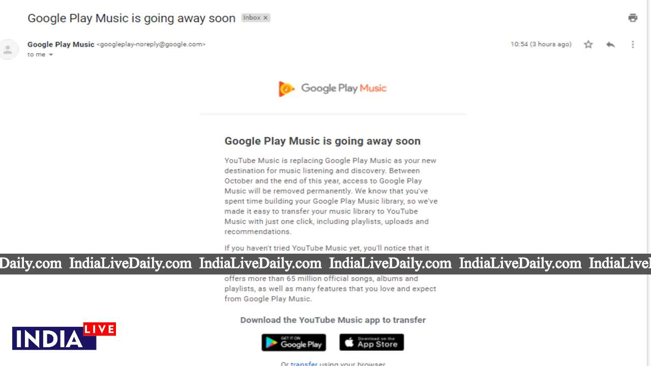Google Play Music Going to Shut Down; What to do Next?
