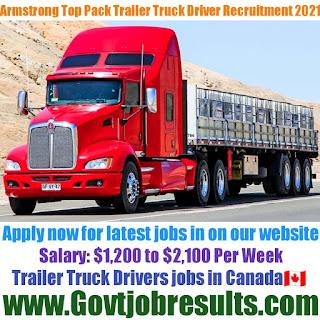 Armstrong Top Pack Trailer Truck Driver Recruitment 2021-22