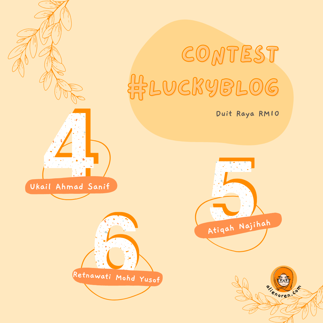 Pemenang Contest #luckyblog top 5