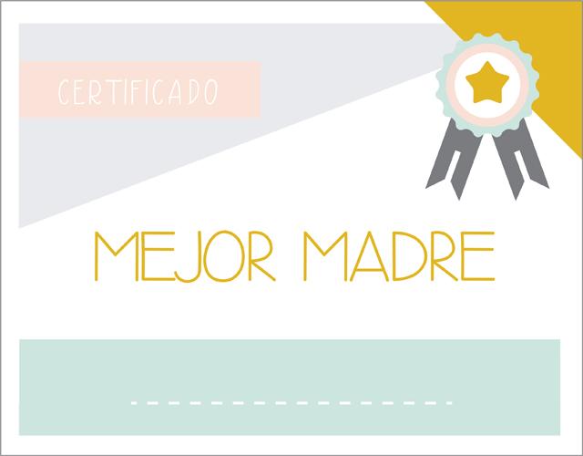imprimible certificado mejor madre