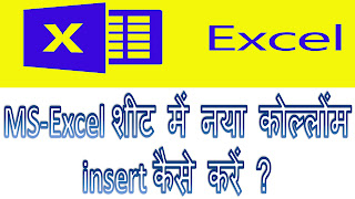 how to insert new column between column of excel in Hindi | Excel sheet me nya column add kaise kare