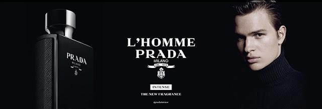 Reklama perfum Prada L'Homme Intense
