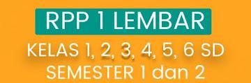 Download RPP 1 Lembar untuk SD Kelas 1,2,3,4,5 dan 6 Lengkap