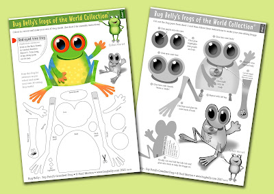 download A4 craft sheet for making tree frogs