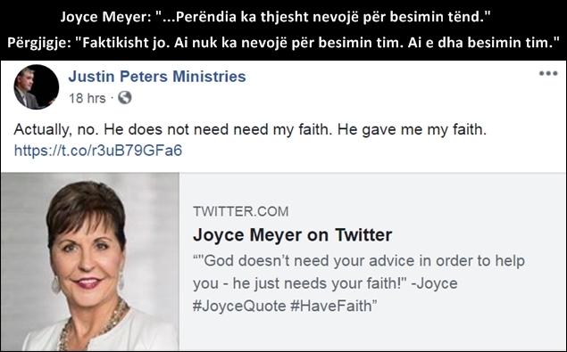 Joyce meyer shqip, mesuesit e rreme, heretike,