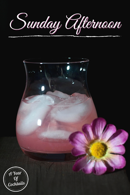 Sunday Afternoon is a refreshing low alcohol cocktail that has a beautiful color.
