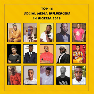 Top 15 Social Media Brand Influencers in Nigeria for 2018