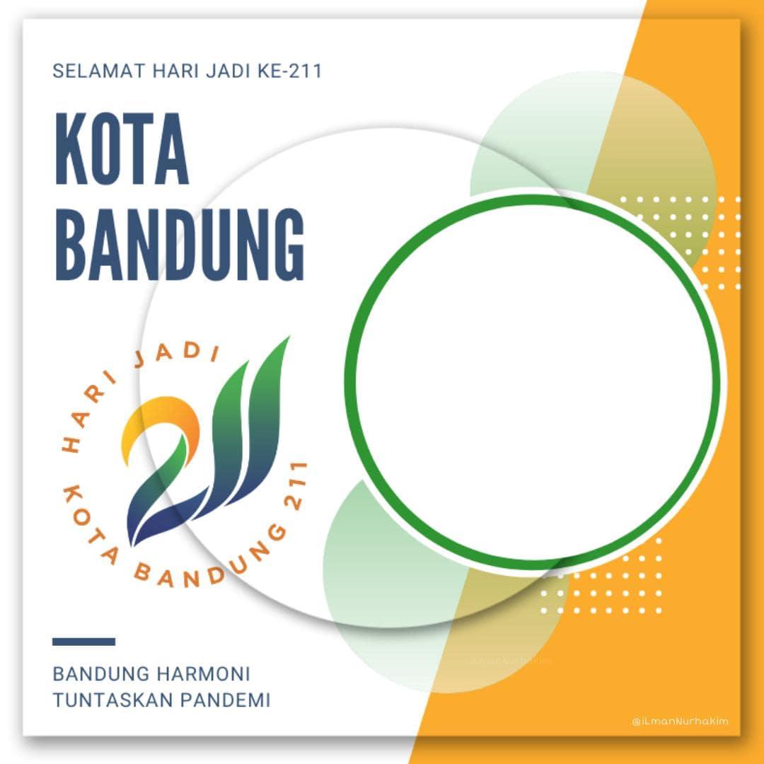 Dowload Template Frame Bingkai Twibbon HUT ke-211 Kota Bandung 25 September 2021