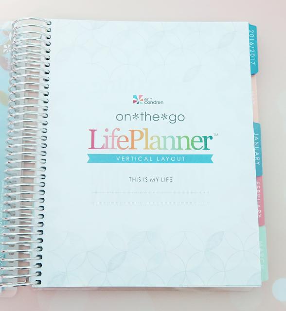 Erin Condren 2017 Life Planner - Vertical Layout | Kat Stays Polished