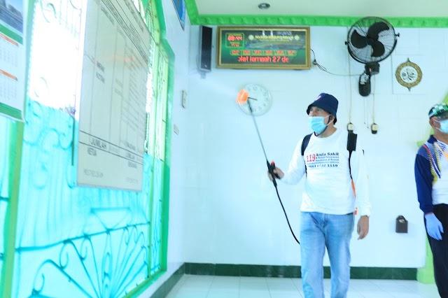 Pemerintah Prabumulih  Lakukan Penyemprotan Disinfektan Terpadu