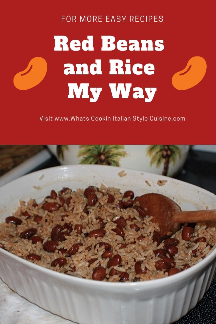 this is a red beans and rice side dish in a white bowl