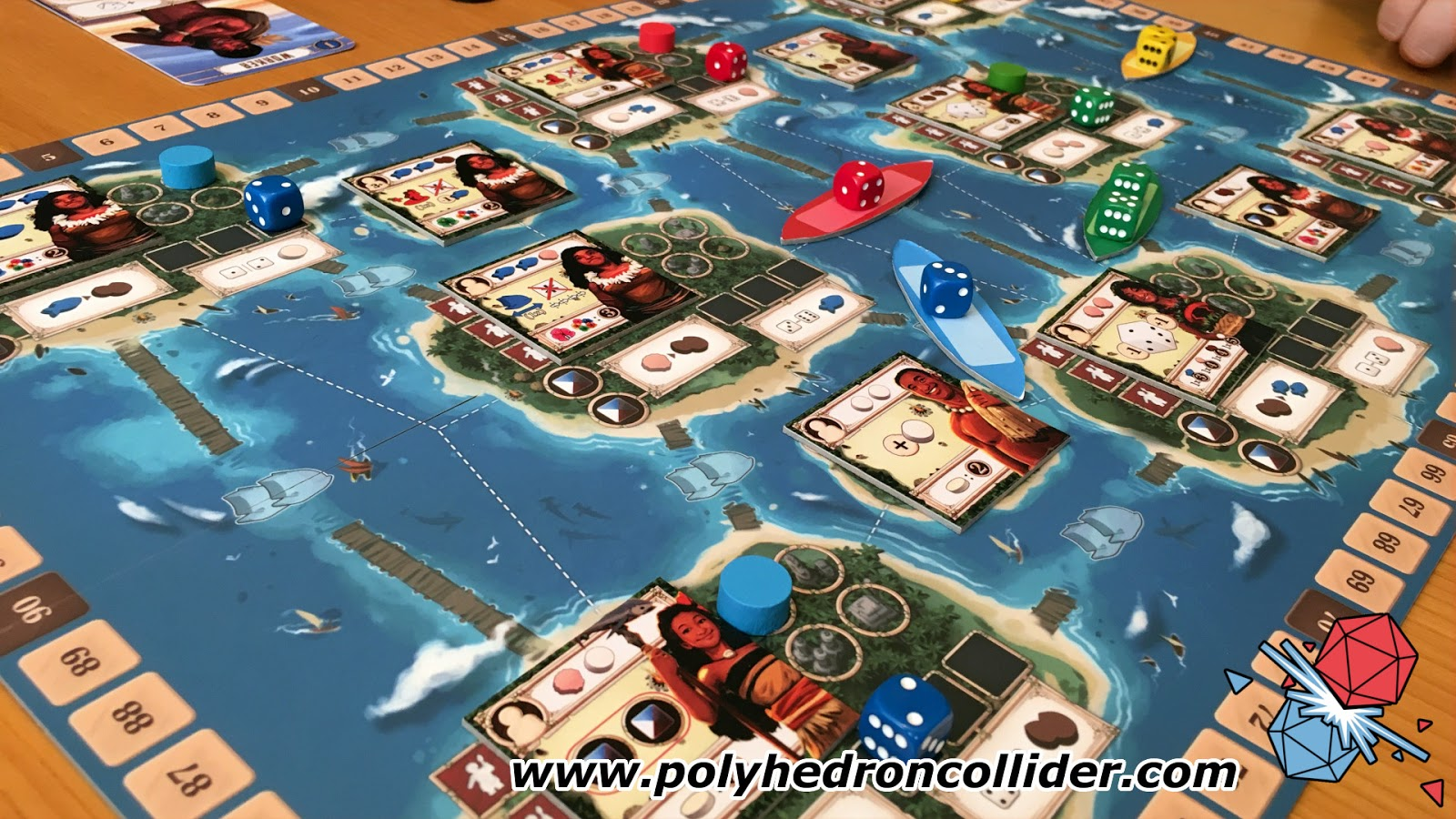 Tangura Kickstarter Review polynesian dice placement game