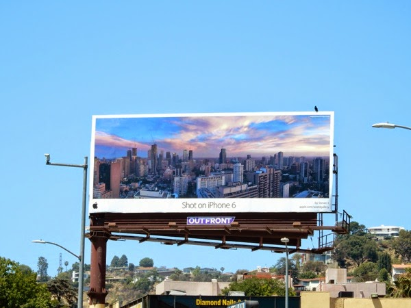 Shot on iPhone 6 cityscape billboard