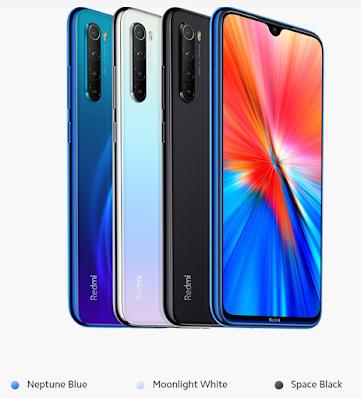 Redmi Note 8 2021 colors