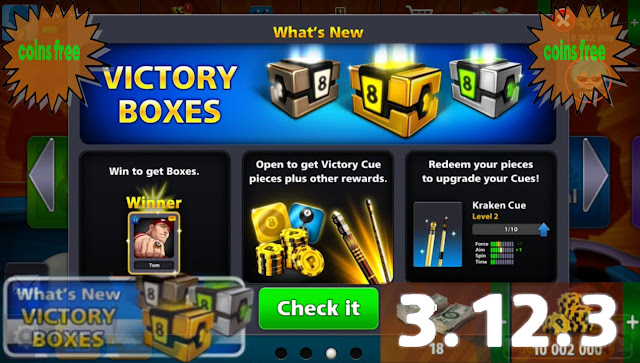 update 8 ball pool version 3.12.3 and free boxes