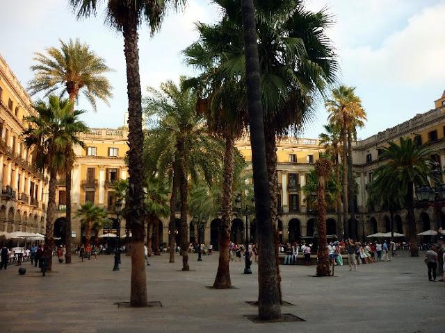 itinerario per il centro di Barcellona, las ramblas