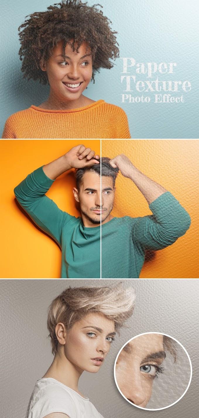 Paper Sheet Texture Photo Effect Mockup[Photoshop][Action][385082722]