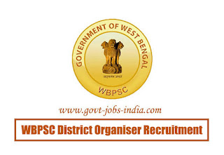 WBPSC District Organiser Recruitment 2020