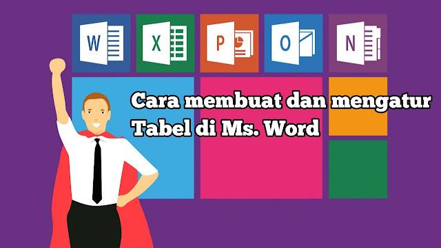 cara membuat Tabel di microsoft word 2007,2010,2013,2016