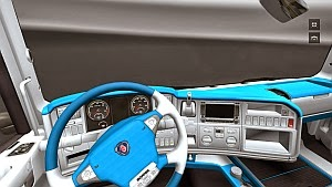 Scania White and Blue interior by MaxOfSteel