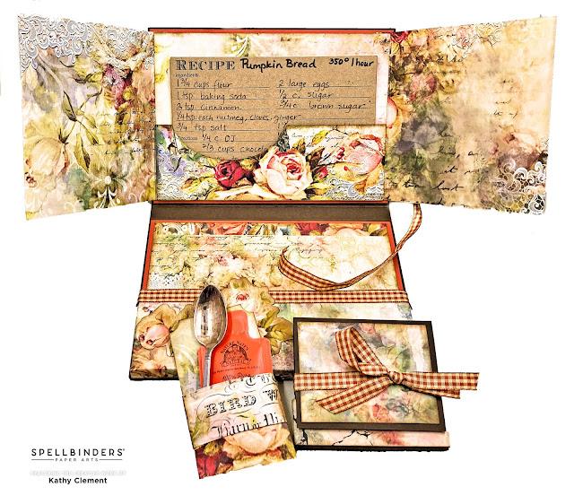 Pumpkin Recipe Card Folio by Kathy Clement