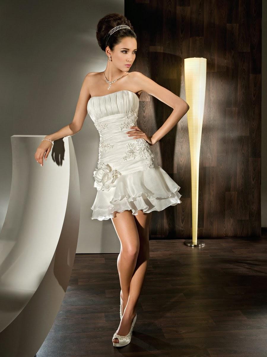 Vestidos de novias cortos y bonitos