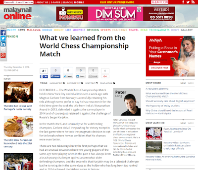 Malay Mail Online: What We Learned From The World Chess Championship Match
