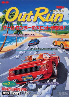 Out Run arcade game portable flyer