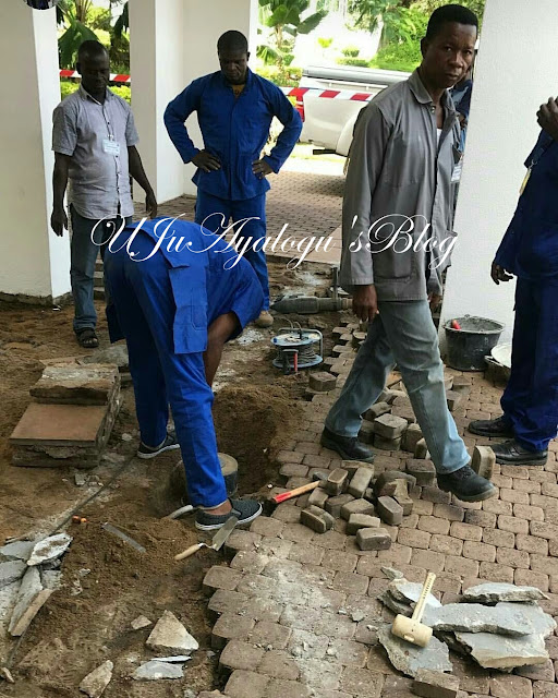 Work begins on renovation of Buhari's office [PHOTOS]