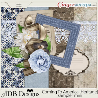 Ginger Scraps Nov Mini Kit Challenge Challenge and Freebie
