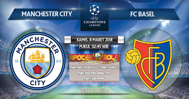 Cuplikan Hasil Pertandingan Manchester City vs Basel 8 Maret 2018