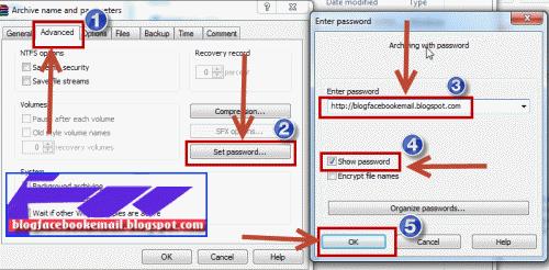 cara setting password pada rar  dengan mudah