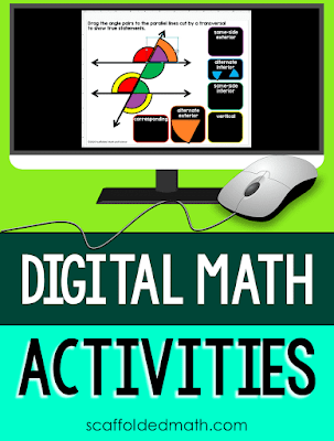 This is a long post jam-packed with information on making math digital for 1 to 1 and blended learning classrooms. It has digital links to math activities in Google Slides, Forms and how to send these to students. In this post I show you how to send GOOGLE Slides and GOOGLE Forms to students, link you to updated math task cards that now have Google versions in their files, what the updated partner scavenger hunts look like on Google Slides and what solve 'n check! math tasks look like on Google Forms. I also link to my store's new GOOGLE math section and where you can find digital activities specifically for algebra.