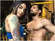 Bani J with her boyfriend yuvraj