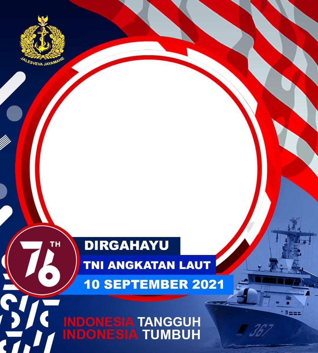 Link Bingkai Foto Twibbon Dirgahayu TNI AL 2021 - Hari Jadi ke-76 Tentara Nasional Indonesia Angkatan Laut