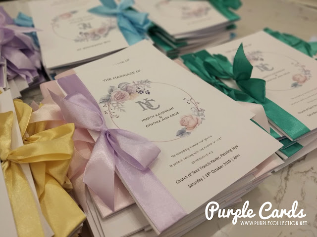 mass booklet, service, printing, vendor, supplier, book, wedding, save the date, christian, catholic, satin ribbon