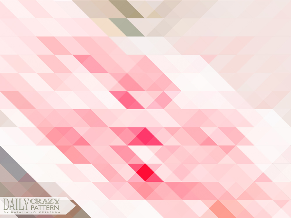 "Cool pink geometric pattern for ""Daily Crazy Pattern"" project"