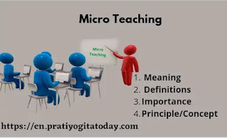 Micro Teaching - Meaning And Definitions