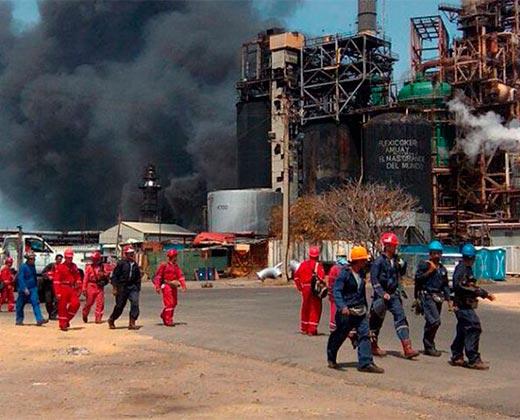 #22Mar Reportan incendio en Refinería Amuay de Falcón (+Fotos)
