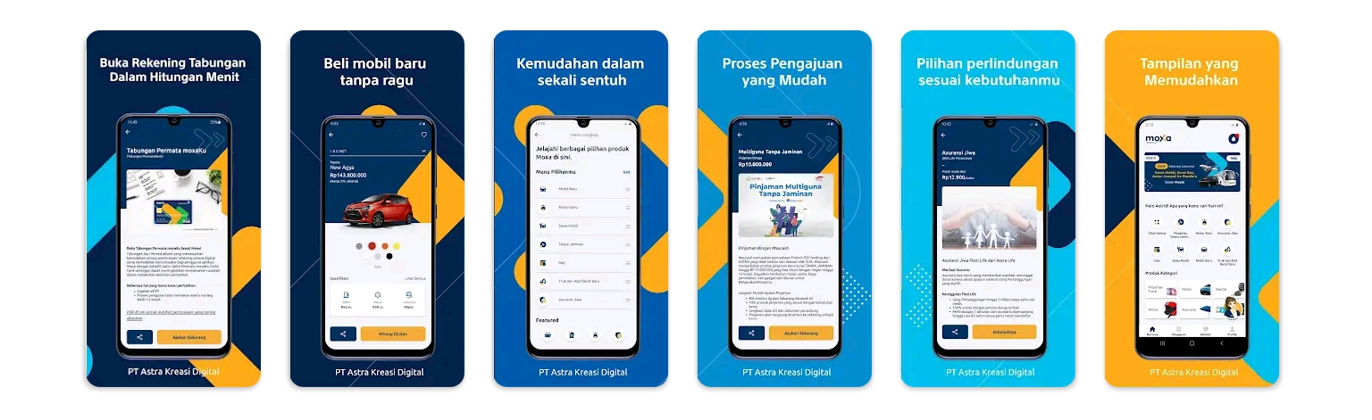 Aplikasi Moxa dari Astra Financial