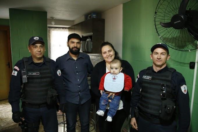 Guarda Municipal de Gravataí salva bebê de seis meses