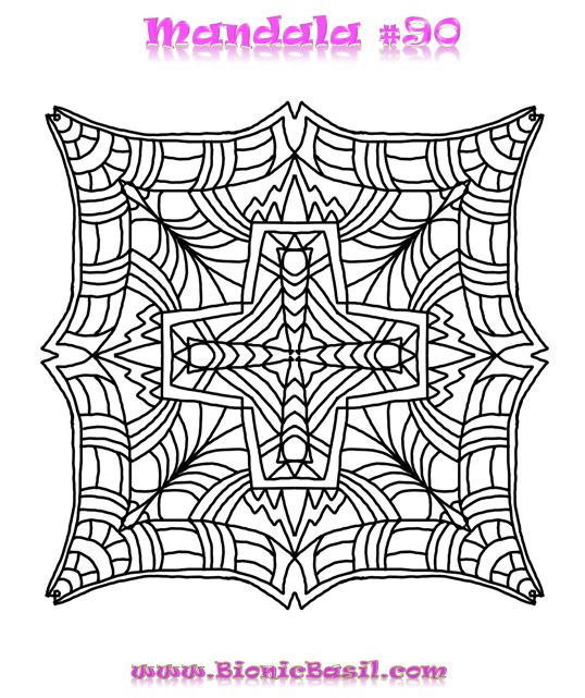 Mandalas on Monday ©BionicBasil® Colouring With Cats #90 Downloadable Image
