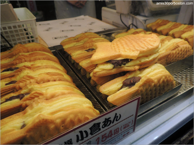 Taiyaki Rellenos en Tokio, Japón