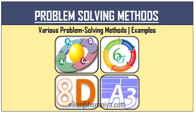 Problem Solving Method with Example  PDCA  DMAIC  8D