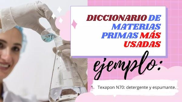 ▷ Diccionario de productos químicos y cosméticos